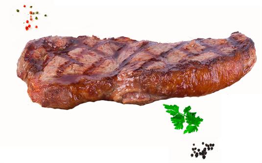 Стейк из мраморной говядины (стриплойн)