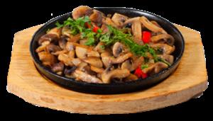 """Жареный картофель с грибами """"а-ля Пушкин"""""""