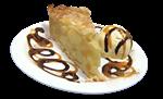 Пирог яблочный с шариком мороженного